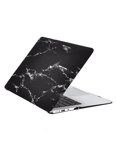 "Mcstorey MacBook Retina A1502 A1425 13"" 13.3"" Kılıf Sert Kapak Koruma Hard Incase Mermer Zebra"